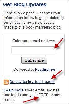 Set up an email subscription widget