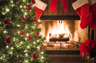 IStock_000007954048XSmall Christmas tree with fire